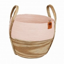 Paper Rope Mand Ray Roze/Beige 28x28x25 cm