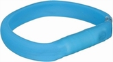 Trixie Halsband USB Flash Light Blauw 35 cm/30 mm