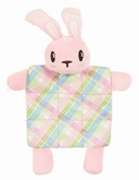 Puppy Plush Plaid Roze